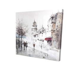 Canvas 24 x 24 - 3D - Gray city street
