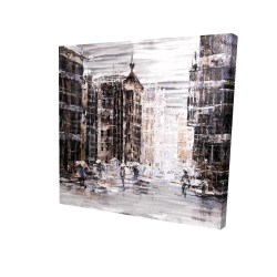 Canvas 24 x 24 - 3D - Industrial abstract city
