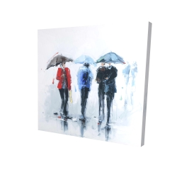 Canvas 24 x 24 - 3D - Spring shower