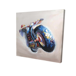 Canvas 24 x 24 - 3D - Motorcycle in jump