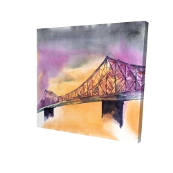 Canvas 24 x 24 - 3D - Montreal jacques-cartier bridge