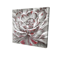 Canvas 24 x 24 - 3D - Gray and pink flower