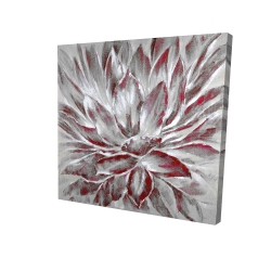 Canvas 24 x 24 - 3D - Red and gray flower