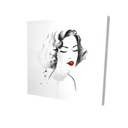 Canvas 24 x 24 - 3D - Watercolor woman