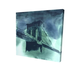 Canvas 24 x 24 - 3D - Abstract view of brooklyn bridge