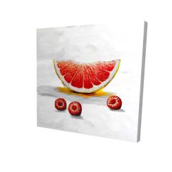Canvas 24 x 24 - 3D - Grapefruit slice