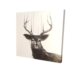 Canvas 24 x 24 - 3D - Abstract deer