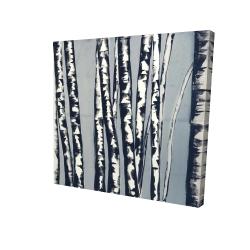 Canvas 24 x 24 - 3D - Pastel birches