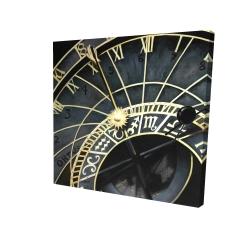 Canvas 24 x 24 - 3D - Astrologic clock