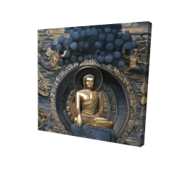 Canvas 24 x 24 - 3D - Grand buddha at lingshan scenic area in china