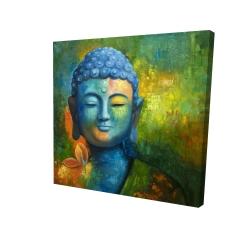 Toile 24 x 24 - 3D - Bouddha coloré