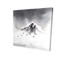 Canvas 24 x 24 - 3D - Mountain peak