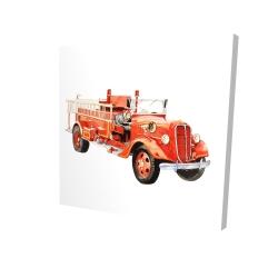 Canvas 24 x 24 - 3D - Vintage fire truck
