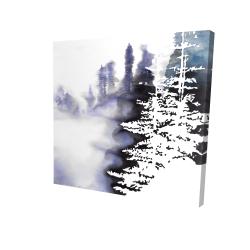 Silhouette de forêt