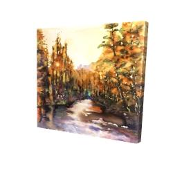 Canvas 24 x 24 - 3D - Merced river