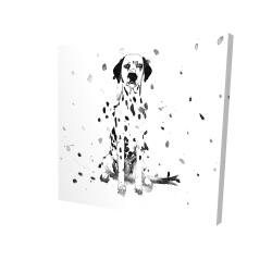 Canvas 24 x 24 - 3D - Dalmatian dog