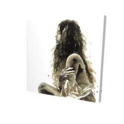Woman in sepia