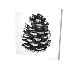 Canvas 24 x 24 - 3D - Pine cone