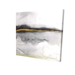 Canvas 24 x 24 - 3D - Gold stripe abstract