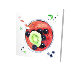 Canvas 24 x 24 - 3D - Berry smoothies
