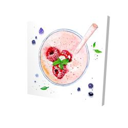 Canvas 24 x 24 - 3D - Strawberry & raspberry smoothie