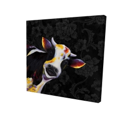 Canvas 24 x 24 - 3D - Funny cow