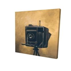 Canvas 24 x 24 - 3D - Vintage camera