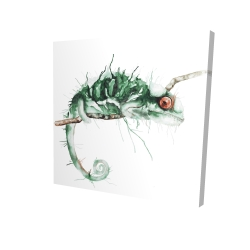Canvas 24 x 24 - 3D - Chameleon on the lookout