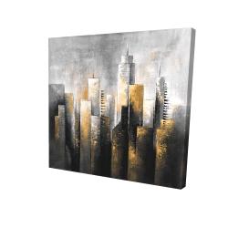 Canvas 24 x 24 - 3D - Abstract skyline