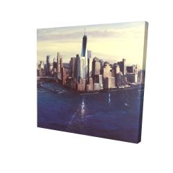 Canvas 24 x 24 - 3D - City of new-york vintage