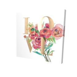 Canvas 24 x 24 - 3D - Love gold
