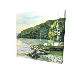 Canvas 24 x 24 - 3D - Sailboat day