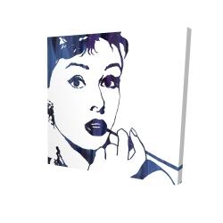 Canvas 24 x 24 - 3D - Audrey hepburn: cigarillo