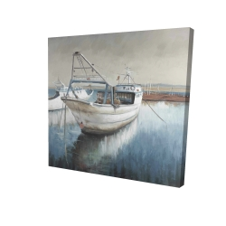 Canvas 24 x 24 - 3D - Fishing boat desatured