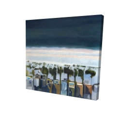 Canvas 24 x 24 - 3D - Bird's eye view of beach