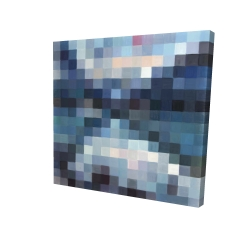 Canvas 48 x 48 - 3D - Pixelated mountainous landscape