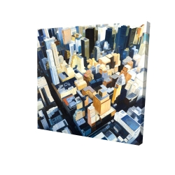 Canvas 24 x 24 - 3D - Manhattan view of the empire state building