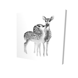 Canvas 24 x 24 - 3D - Fawns love