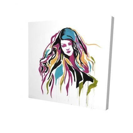 Woman graffiti art