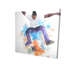 Canvas 24 x 24 - 3D - Skater