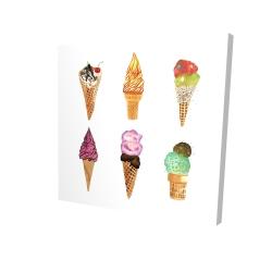 Canvas 24 x 24 - 3D - Ice cream cones