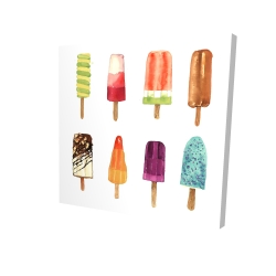 Canvas 24 x 24 - 3D - Iced lollipop