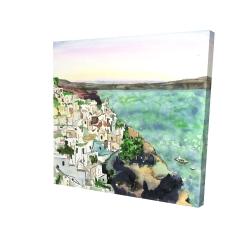 Canvas 24 x 24 - 3D - Landscape of crete