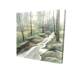 Canvas 24 x 24 - 3D - Waterfall