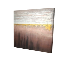 Canvas 24 x 24 - 3D - Golden pink
