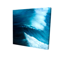Canvas 24 x 24 - 3D - Unleashed sea
