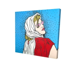 Canvas 24 x 24 - 3D - Pop art woman