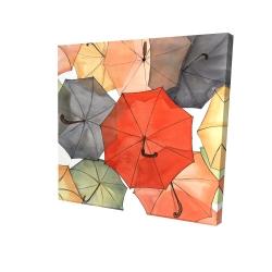 Canvas 24 x 24 - 3D - The umbrellas of petit champlain