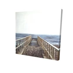 Canvas 24 x 24 - 3D - Relaxing beach