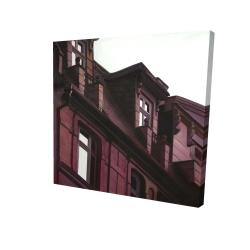 Canvas 24 x 24 - 3D - Architectural building